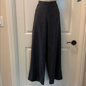 Beautiful Wool Sailor style Pants with Wide Legs